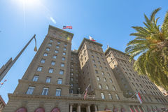 Westin St. Francis Hotel. San Francisco, California, United States - August 17, 2016: close up of Westin St. Francis luxury hotel on popular Powell Street near Stock Photography