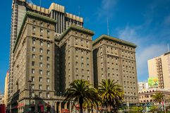 The Westin St. Francis, San Francisco. The Westin St. Francis, one of San Francisco`s grand hotels. The Westin is located along the world famous union square Royalty Free Stock Image