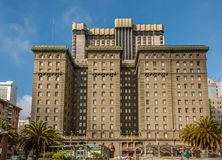 The Westin St. Francis, San Francisco. The Westin St. Francis, one of San Francisco`s grand hotels. The Westin is located along the world famous union square Stock Image