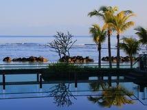 Westin Turtal海湾手段和温泉的生活方式图象在毛里求斯 免版税库存照片