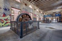 Westinghouseturbine - Glenwood-Elektrische centrale - Yonkers, New York stock afbeelding