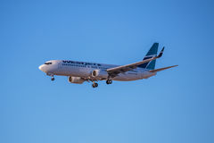 WestJet Airlines Jet Aircraft Royalty Free Stock Photos