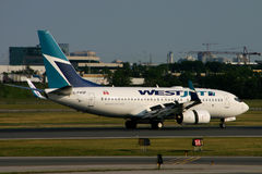 WestJet Boeing 737 Stock Photo
