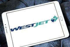 WestJet flygbolaglogo Arkivbild