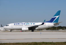 Westjet passenger airplane Stock Photo