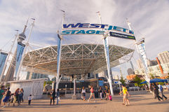WestJet Stage at Harbourfront Centre - TORONTO, CANADA - MAY 31,. TORONTO, CANADA - MAY 31, 2014: The WestJet Stage at Harbourfront Centre is a 1,300-seat Stock Images