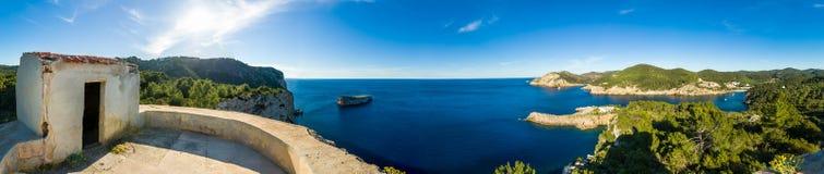 Westküste Ibiza Stockfoto