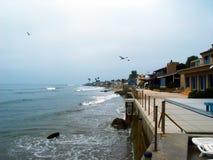Westküste-Strand-Häuser Stockfotografie