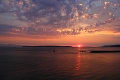 Westküsten-Sonnenuntergang Lizenzfreie Stockfotografie