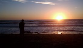 Westküsten-Sonnenuntergang Lizenzfreies Stockfoto