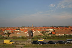 Westkapelle cityscape. Panorama of Westkapelle, Zeeland, the Netherlands Royalty Free Stock Photography