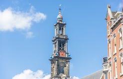 Westkirche in Amsterdam, die Niederlande Lizenzfreies Stockfoto