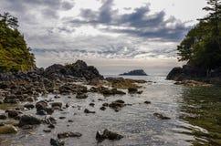 Westkust beachscape Royalty-vrije Stock Afbeeldingen