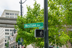 Westlake Avenue Sign Royalty Free Stock Photography