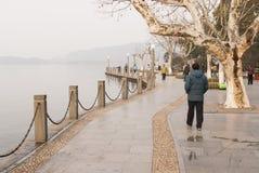 Westlake boardwalk in Hangzhou. Boardwaolk by West Lake (Xi Hu) in Hangzhou China Royalty Free Stock Photography