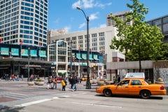 Westlake Center in Seattle, WA Stock Image