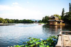 Westlake em HangZhou, China Foto de Stock Royalty Free