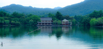 Westlake a Hangzhou, Cina fotografia stock