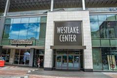 Westlake mitt Seattle Arkivfoto