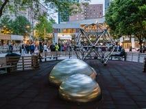 Westlake Park, Seattle, at dusk Royalty Free Stock Photos