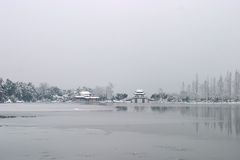 Westlake after snow fall. In hangzhou Stock Images