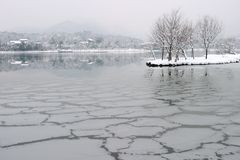 Westlake after snow fall. In hangzhou Stock Photos