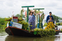Westland Floating Flower Parade 2009 Royalty Free Stock Image