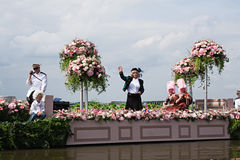 Westland Floating Flower Parade 2010 Royalty Free Stock Image