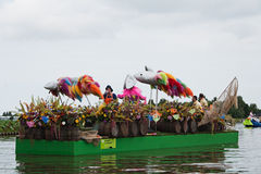Westland Floating Flower Parade 2010 Royalty Free Stock Photography