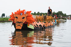 Westland Floating Flower Parade 2010 Royalty Free Stock Photos