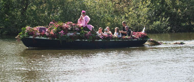Westland Floating Flower Parade 2011 Royalty Free Stock Image