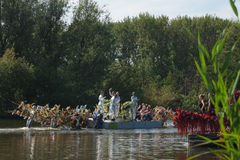 Westland Floating Flower Parade 2011 Royalty Free Stock Photos
