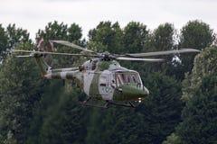Westlandlynx AH 7 helikopter XZ184 van de Britse Korpsen van de Legerlucht royalty-vrije stock fotografie