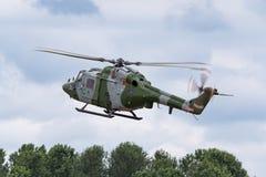 Westlandlynx AH 7 helikopter XZ184 van de Britse Korpsen van de Legerlucht stock fotografie