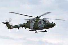 Westlandlynx AH 7 helikopter XZ184 van de Britse Korpsen van de Legerlucht stock foto's