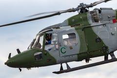 Westlandlynx AH 7 helikopter XZ184 van de Britse Korpsen van de Legerlucht royalty-vrije stock foto's