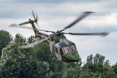 Westlandlynx AH 7 helikopter XZ184 van de Britse Korpsen van de Legerlucht stock afbeelding