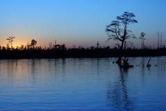 Westlandung-Sonnenuntergang Lizenzfreies Stockbild