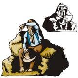 Westliche Abbildungserie Stockfotos