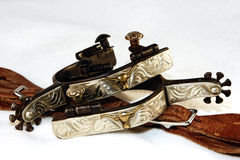 Westliche fantastische Sporne und Leder Stockfotografie