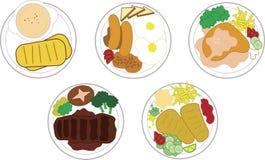 Westliche Nahrung lizenzfreie abbildung