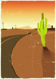 Westliche Sommerwüste Straße Stockfotos