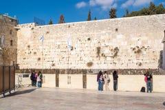 Westliche Wand in Jerusalem Stockbild