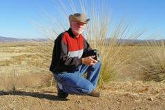 Westlicher Fotograf Stockfoto
