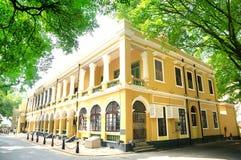Westliches Artgebäude des 19. Jahrhunderts in Shamian lizenzfreie stockfotos