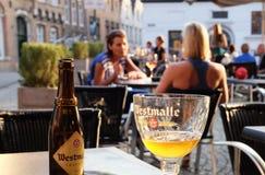 Westmalle, birra belga Fotografia Stock