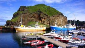 Westman海岛小游艇船坞 库存照片