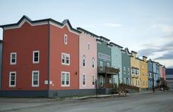 Westmark hotell i Dawson City, Yukon Arkivfoto