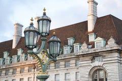 Westminister Bridżowy Lamppost; Londyn zdjęcie royalty free