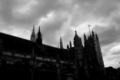 Westminister. Historical buildings in Westminister in London royalty free stock photography